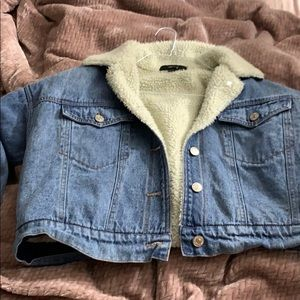 Jackets & Blazers - Forever 21 lined denim jacket